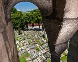 Pohled ze zvonice sv. Jiljí